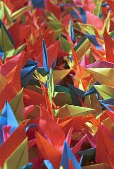1000 folded cranes